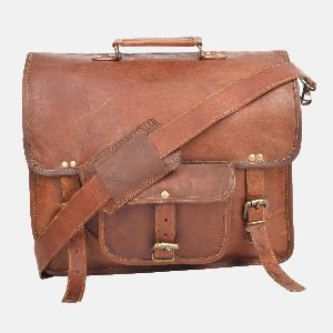 """15"""" Leather Multi Compartment Leather"""