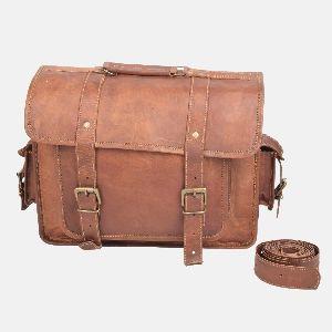 """15"""" Leather Rucksack , Shoulder Bag With Pockets"""