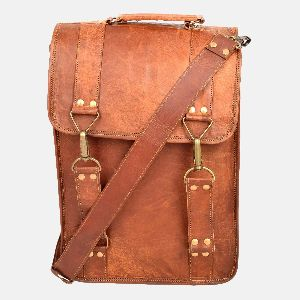 "15"" Leather Shoulder Bag For Laptop Or Daily Essentials"