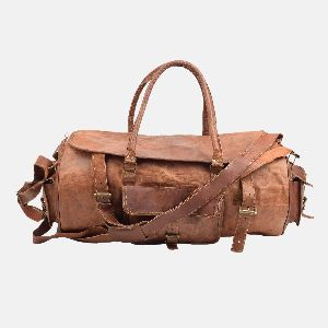 """22"""" Handmade Leather Travel And Weekend Bag"""