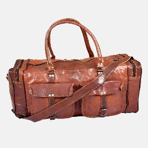 "28"" Large Tough Leather Secure Travel Bag"
