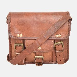 "9"" Small Leather Shoulder Bag"