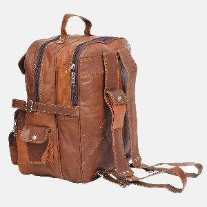 Large Leather Rucksack With Pockets Smith 02