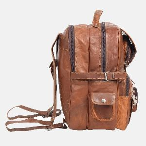 Large Leather Rucksack With Pockets Smith 03