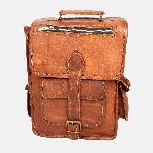 Mens And Womens Handmade Leather Rucksack Bellinger 01