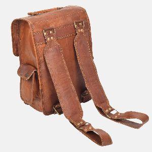 Mens And Womens Handmade Leather Rucksack Bellinger 03