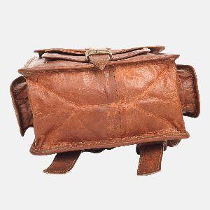 Mens And Womens Handmade Leather Rucksack Bellinger 04
