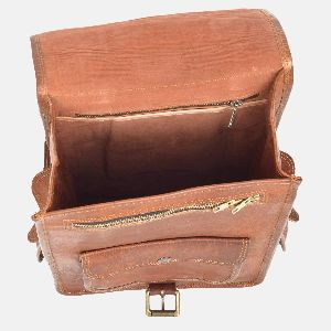 Mens And Womens Handmade Leather Rucksack Bellinger 05