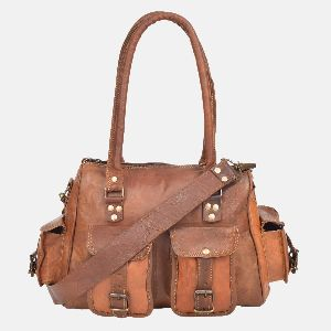 Womens Leather Handbag With Pockets Anderton 01