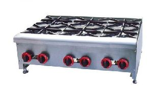 Portable 6 Burner Cooking Range