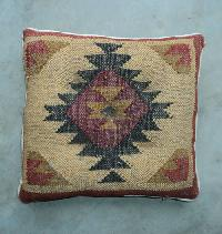 Jute Wool Kilim Cushion