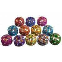 Lac Round Jewellery Boxes