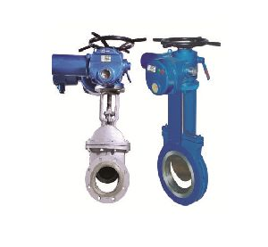 Electric Actuator Operated Knife Gate Valves