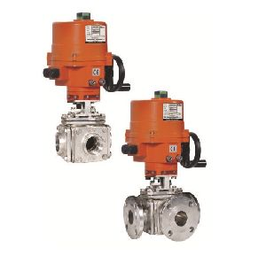 Electrical Actuator Operated Multi Port Design 3 & 4 Way Ball Valves