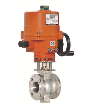 Electric Actuator V - Notch Design Ball Valve