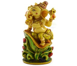Handmade Antique Resin Baby Ganesha Statues
