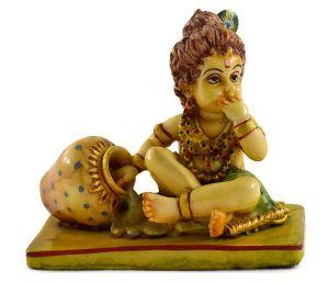 Handmade Antique Resin Baby Krishna Statues