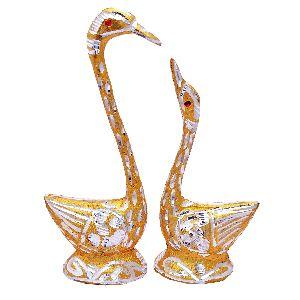 Handmade Decorative Golden Duck Statue