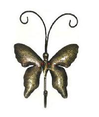 Iron Antique Brass Plated Buttterfly Wall Hook