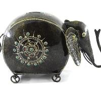 Iron Handmade Elephant Shaped Coin Box 03