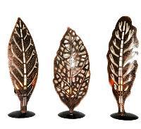 Iron Leaf Shaped Tea Lights