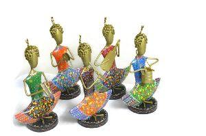 Set of Five Choti Musician Statue