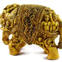 SKU-EIIR0032 Handmade Antique Resin Elephant Statue 04