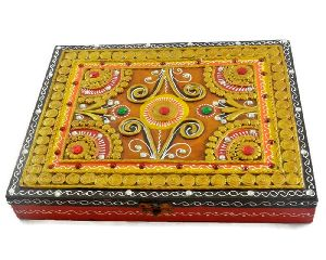 Wooden Hand Painted Multipurpose Boxes