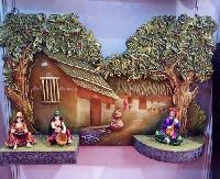 Rajasthani Village Scene Mural