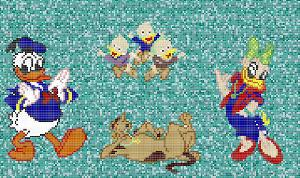 Cartoon Mosaic Tiles