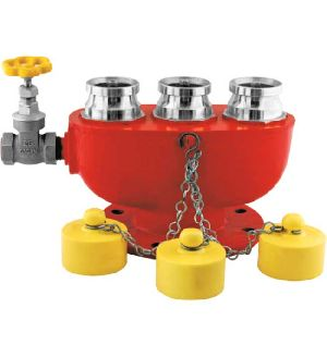 Stainless Steel 3 Way Fire Brigade Inlet