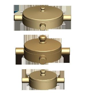 Gunmetal Fire Hydrant Blank Cap Set