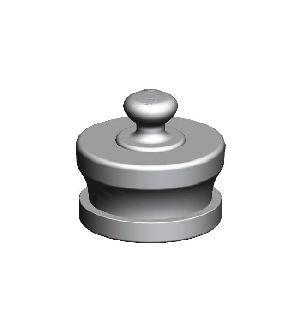 Stainless Steel Male Knob Type Fire Hydrant Blank Caps