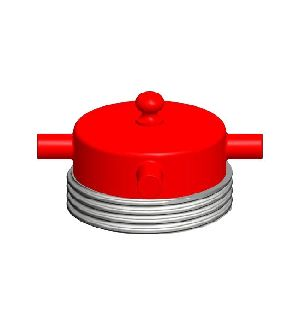 Aluminium Male Round Threaded Fire Hydrant Blank Caps