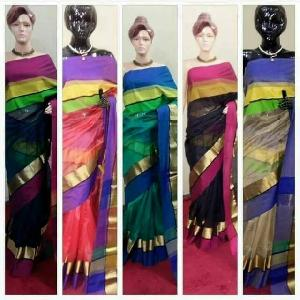 Maheshwari One Side Border Sarees