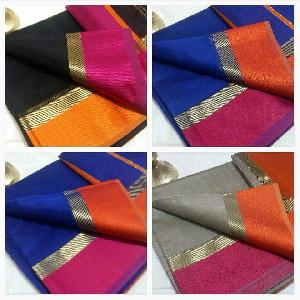 Maheshwari Silk Cotton Rassa Border Sarees