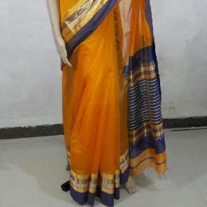 Maheshwari Silver Golden Patta Sarees