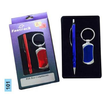 101 Pen & Keychain Gift Set