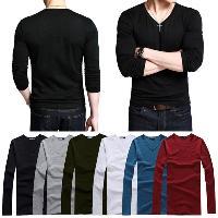Mens V Neck Full Sleeve T-Shirts