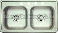 KBTD3319 Stainless Steel Topmount Double Bowl Sink