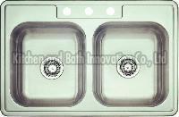 KBTD3322 Stainless Steel Topmount Double Bowl Sink