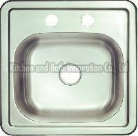 KBTS1515 Stainless Steel Topmount Single Bowl Sink