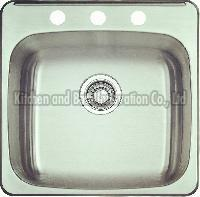 KBTS2021 Stainless Steel Topmount Single Bowl Sink