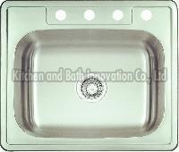 KBTS2522 Stainless Steel Topmount Single Bowl Sink
