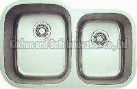KBUD3221 Stainless Steel Undermount Double Bowl Sink