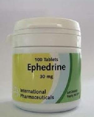 Ephedrine Tables