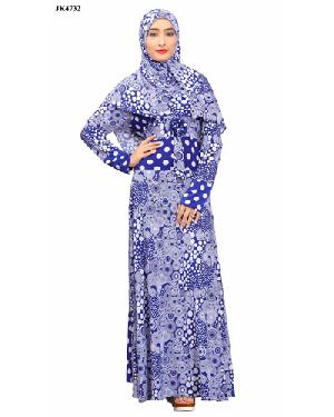 A-58 Classic Embroidered Abaya Dress