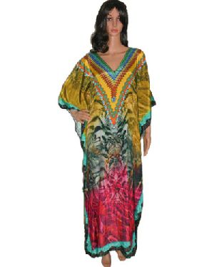 Silk Crepe Kaftan