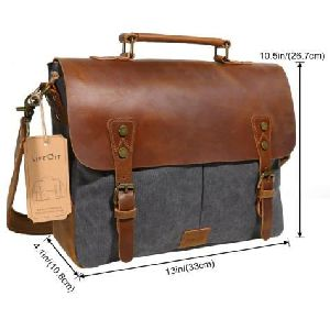 Canvas Mix Leather Carry Bags