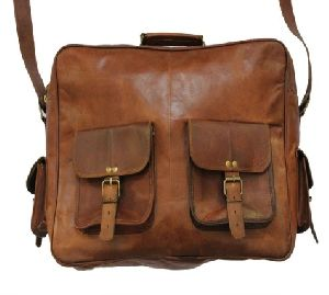 PH026 Leather Messenger Bag